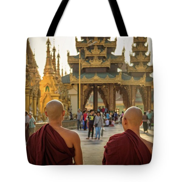 Two Monks Tote Bag