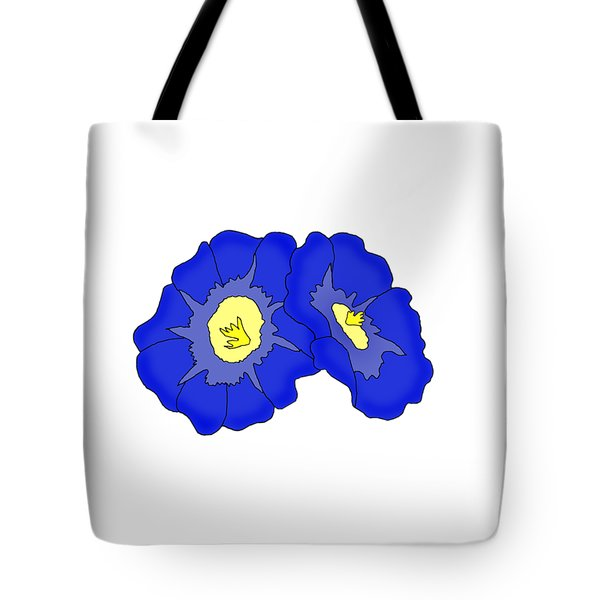 Two Morning Glories Tote Bag