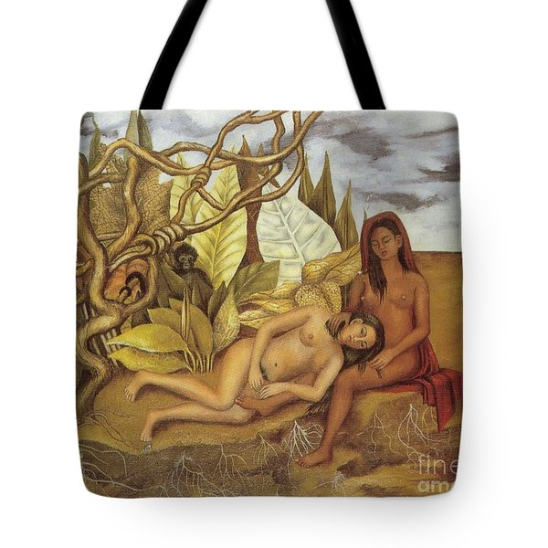 Two Nudes In The Forest Tote Bag