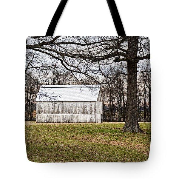Two Oaks White Kentucky Barn Tote Bag