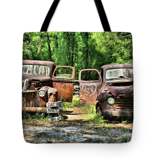Two Old Dogs Tote Bag