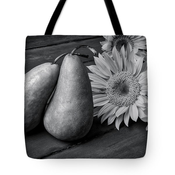 Two Pears And Sunflowers Tote Bag