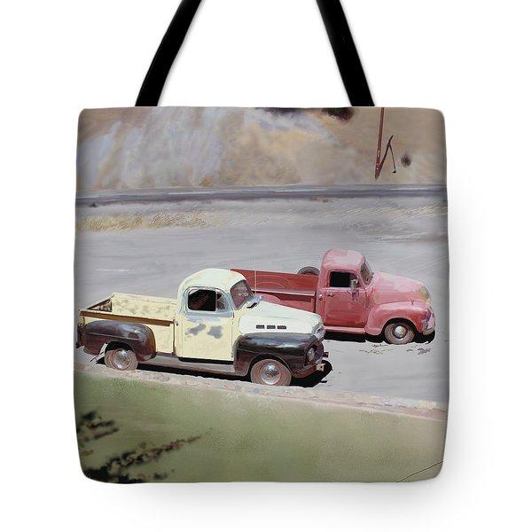Two Pickups Tote Bag