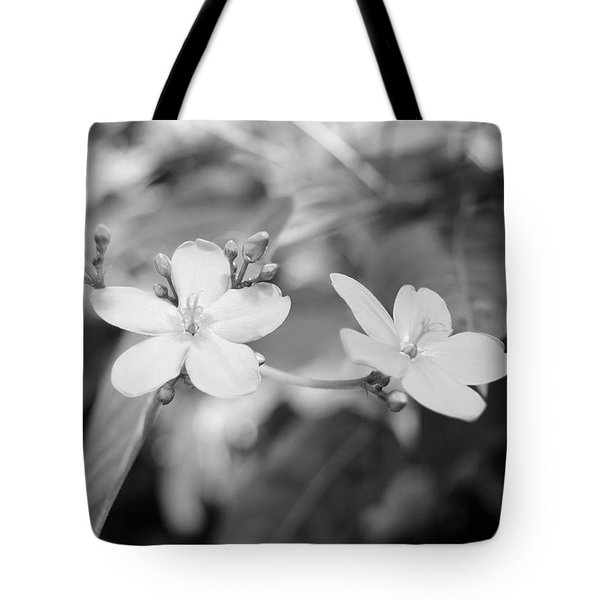 Two Pink Flowers No. 1-1 Tote Bag
