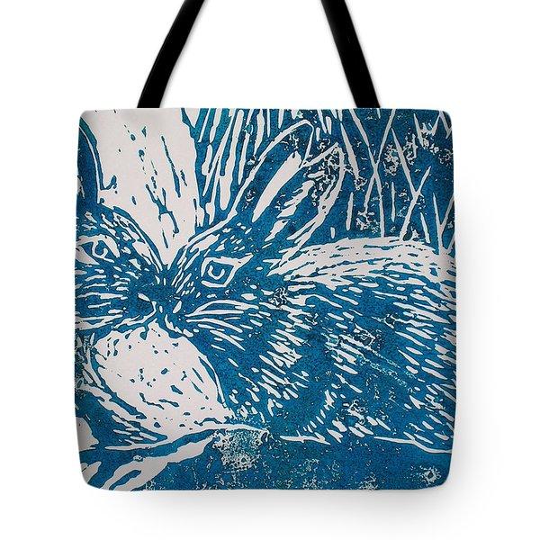 Two Rabbits Tote Bag