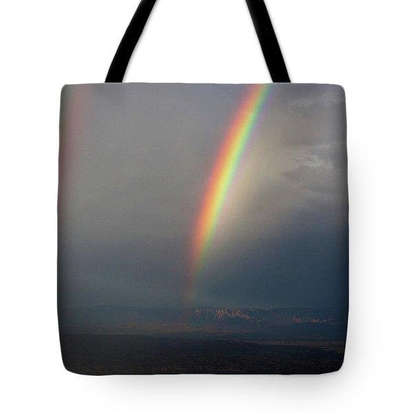 Two Rainbows Tote Bag