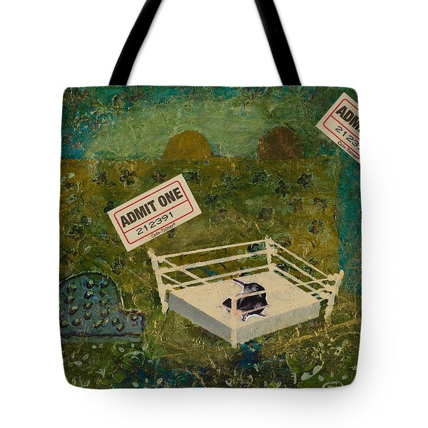 Two Rats Wrestling Tote Bag