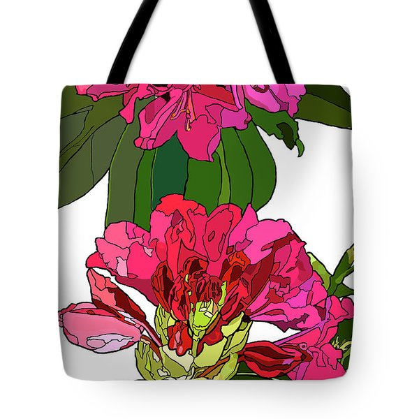 Two Rhododendrons Tote Bag by Jamie Downs