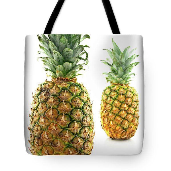 Two Ripe Pineapples, Focus On The Closest One Tote Bag