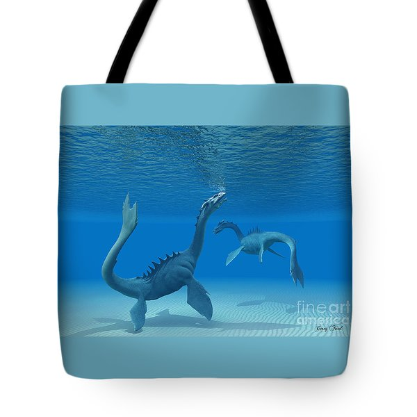 Two Sea Dragons Tote Bag by Corey Ford