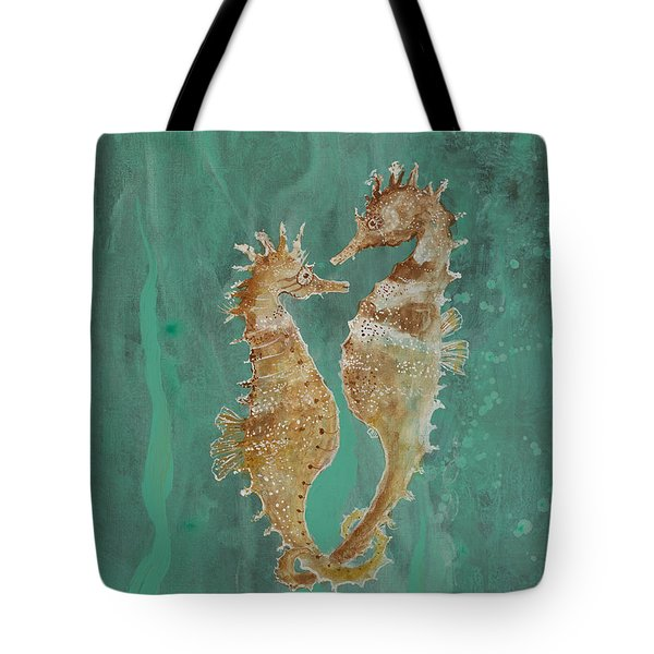 Two Seahorse Lovers Tote Bag by Robin Maria Pedrero