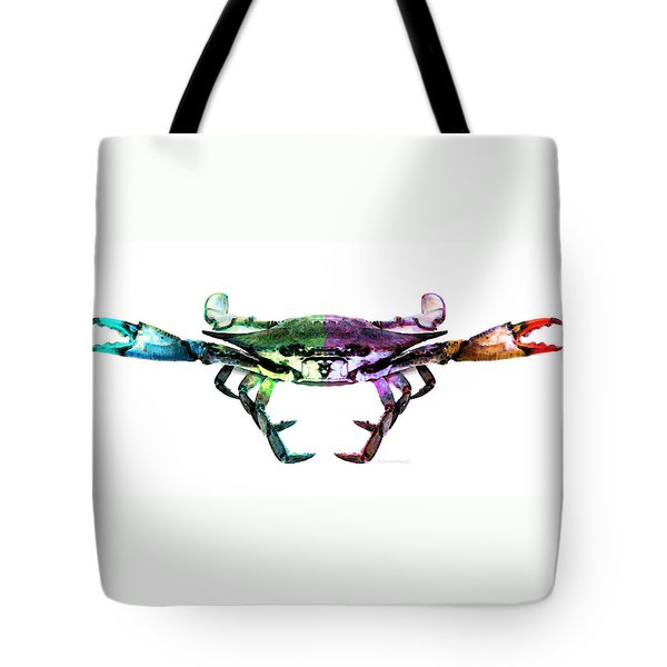 Two Sides - Duality Crab Art Tote Bag by Sharon Cummings