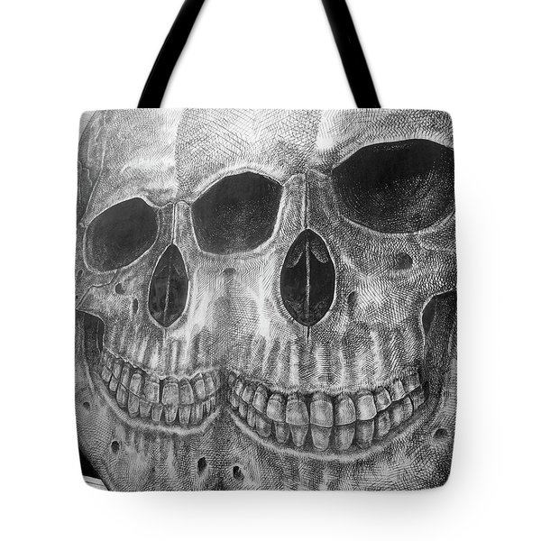 Tote Bag featuring the photograph Two Skulls ... by Juergen Weiss