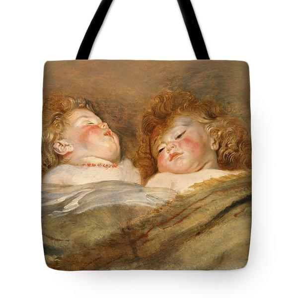 Two Sleeping Children C.   Tote Bag