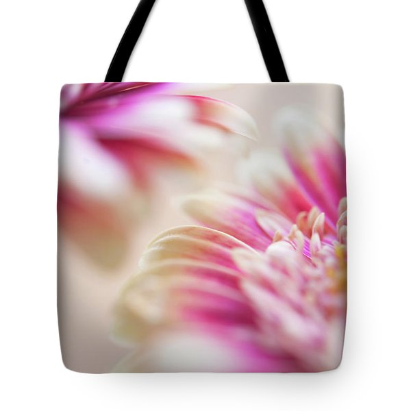 Tote Bag featuring the photograph Two Souls. Macro Gerbera by Jenny Rainbow