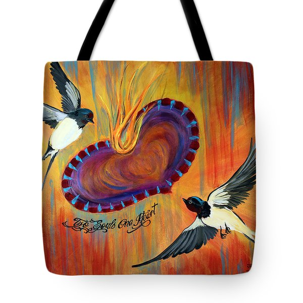 Two Souls One Heart Tote Bag