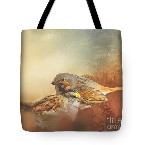 Sparrows In The Marsh 2 Tote Bag