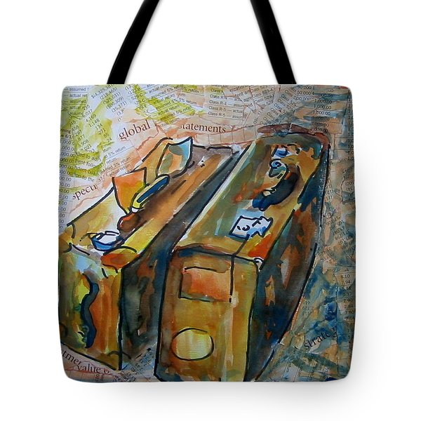 Two Suitcases With Financial Statements Tote Bag