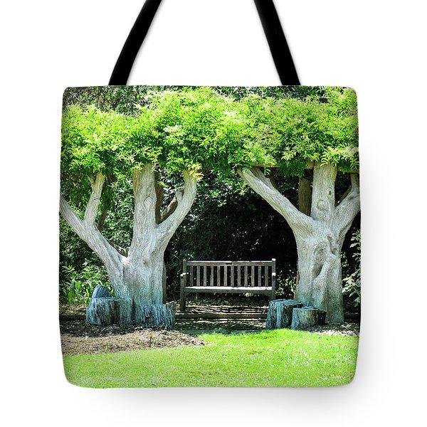 Two Tall Trees, Paradise, Romantic Spot Tote Bag