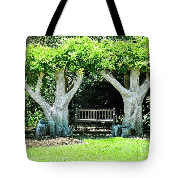 Two Tall Trees, Paradise, Romantic Spot Tote Bag