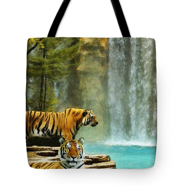 Two Tigers Tote Bag