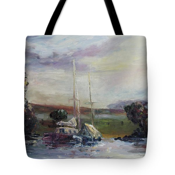 Two Tired Adventurers Tote Bag by Barbara Pommerenke