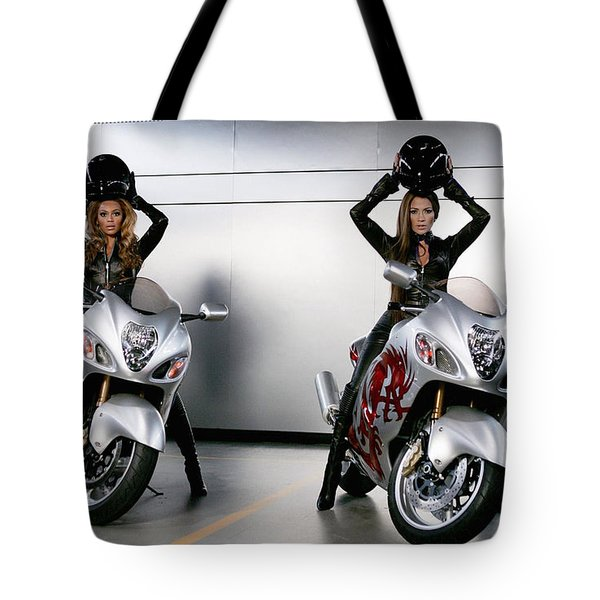 Two To Go And Go And Go. Tote Bag by Lawrence Christopher