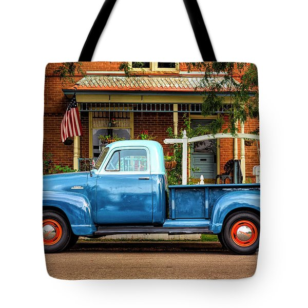 Tote Bag featuring the photograph Two Tone Blue Truck by Craig J Satterlee