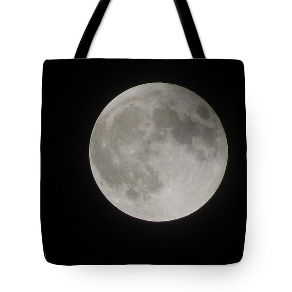 Two-tone Gray Moon Tote Bag