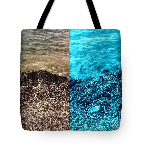 Two Tone Marine Tote Bag
