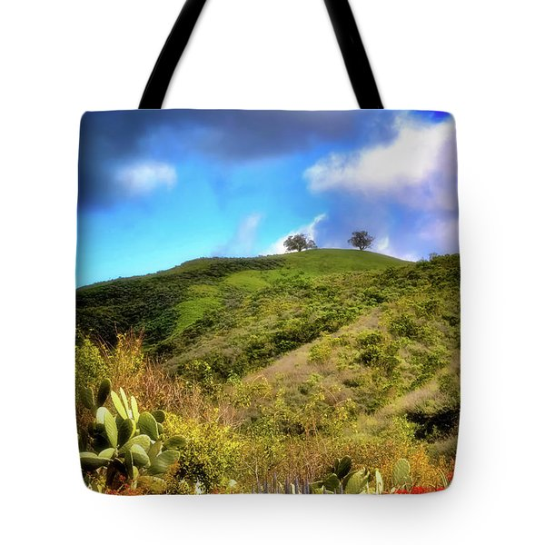 Two Trees In Spring Tote Bag