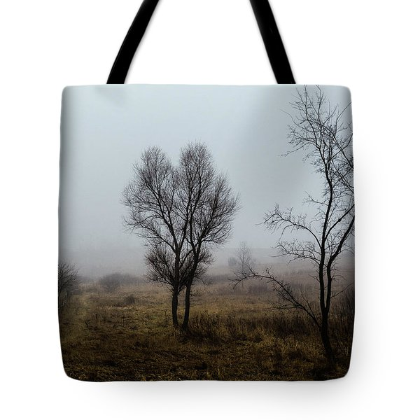 Two Trees In The Fog Tote Bag
