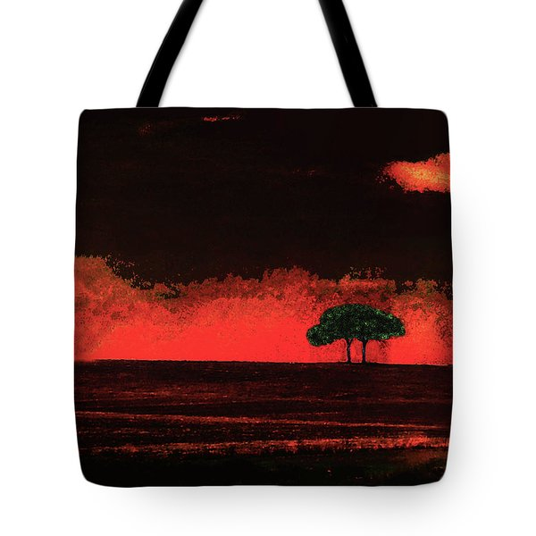 Two Trees In Tuscany Tote Bag