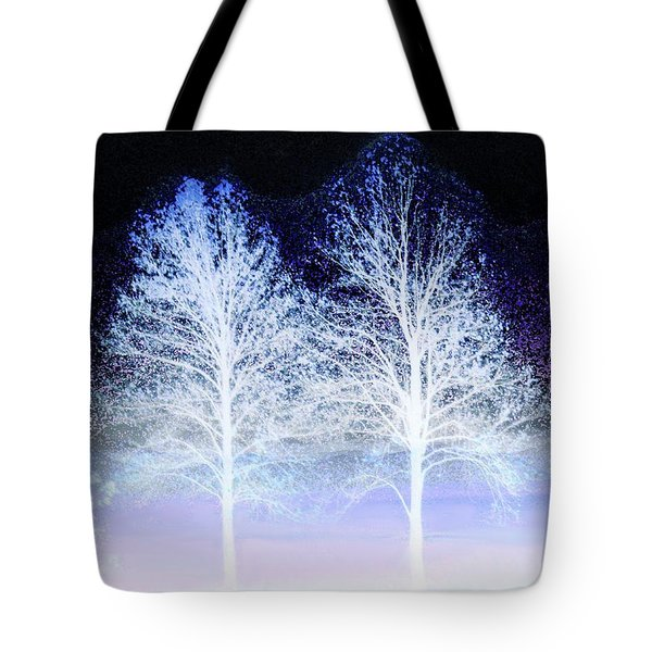 Two Trees In Winter Tote Bag