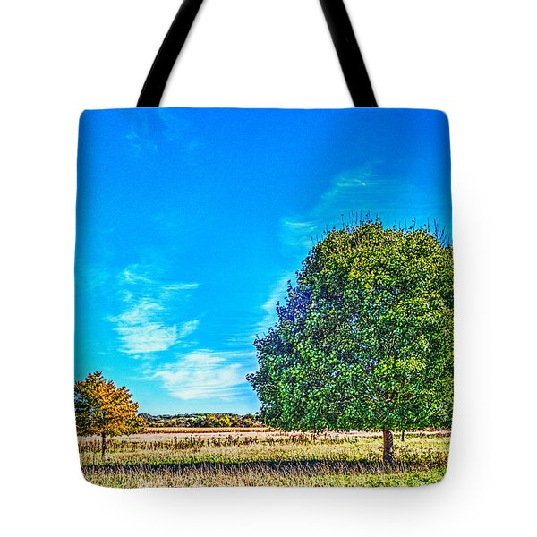 Two Trees On The Illinois Prairie Tote Bag