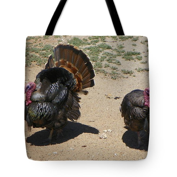 Tote Bag featuring the photograph Two Turkeys by Joseph Frank Baraba