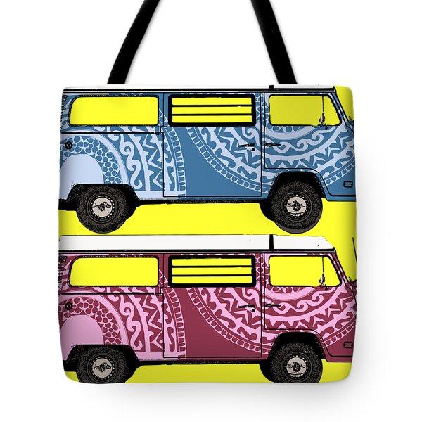 Two Vw Vans Tote Bag