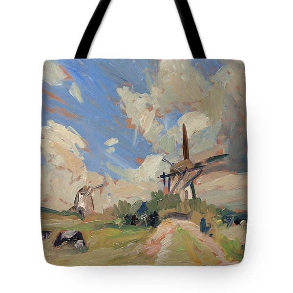 Two Windmills Tote Bag
