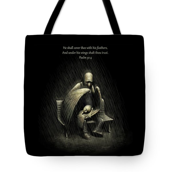 Two Wings And A Prayer - With Psalm 91 Tote Bag
