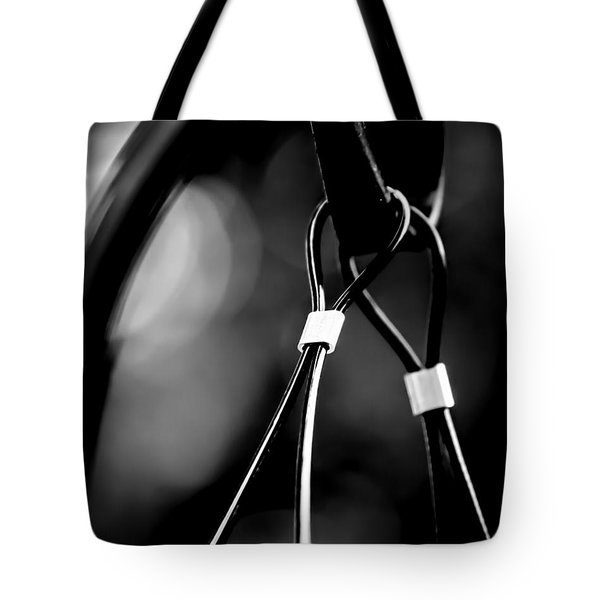 Two Wires On A Pole Tote Bag