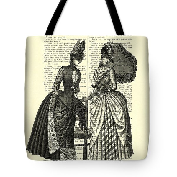 Two Women In Conversation Tote Bag