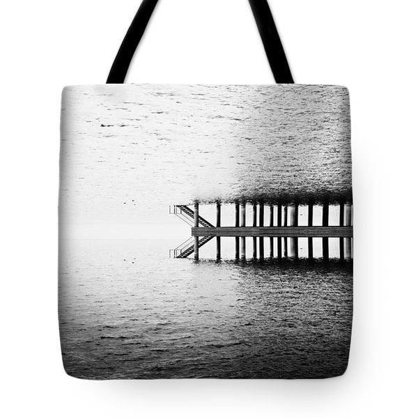 Tote Bag featuring the photograph Two Worlds by Chevy Fleet