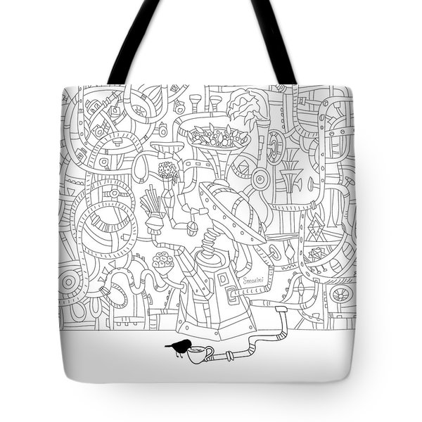 Two Worlds Tote Bag by Smokini Graphics