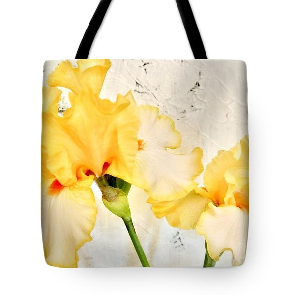 Two Yellow Irises Tote Bag