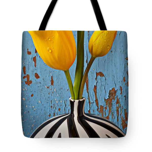 Two Yellow Tulips Tote Bag