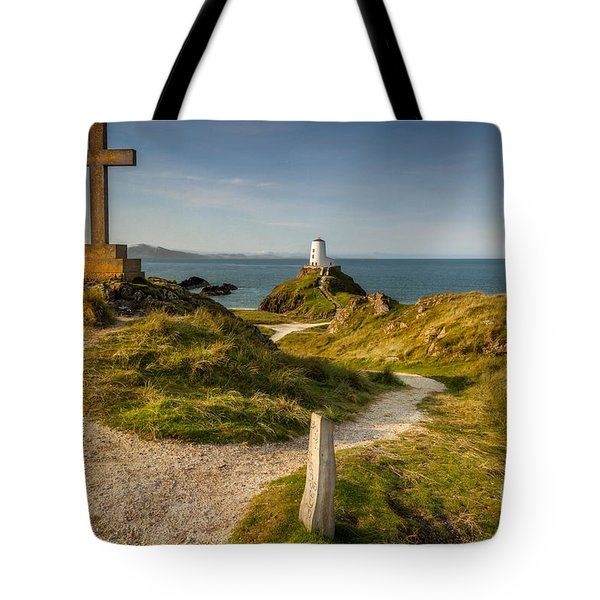 Tote Bag featuring the photograph Twr Mawr Lighthouse by Adrian Evans