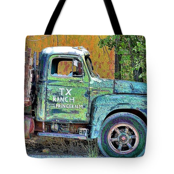 Tx Ranch Truck Tote Bag