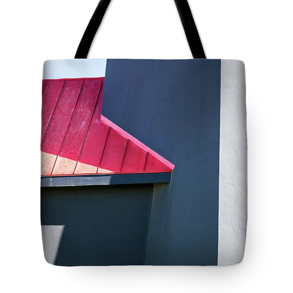 Tybee Building Abstract Tote Bag