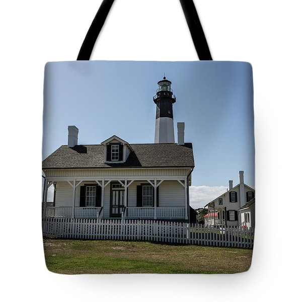 Tote Bag featuring the photograph Tybee Island Lighthouse by Kim Hojnacki