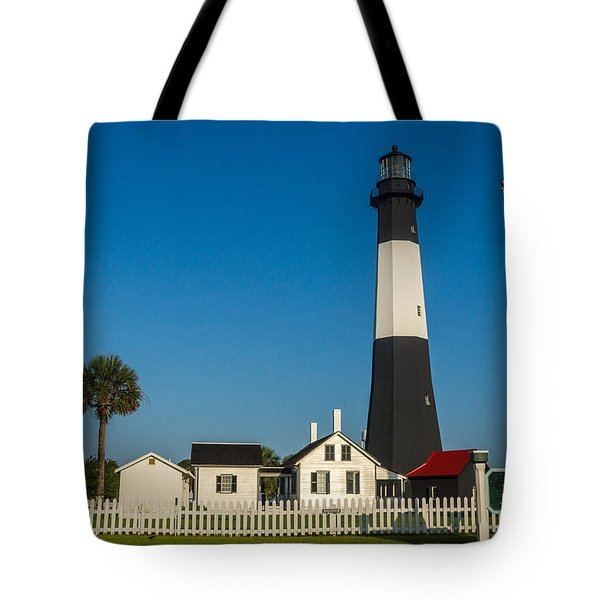 Tybee Island Lighthouse Tote Bag by Michael Sussman